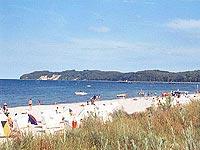 Séjour de vacances sur la Baltique au nord-est de l'Allemagne: la plage de Binz sur l'île de Rügen